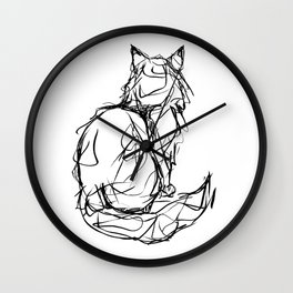 Kitty Gesture Wall Clock