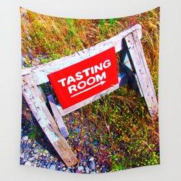 Tasting Room Sign At Ani Che Cellars Wall Tapestry