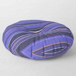Blue-Purple Striped Pattern Floor Pillow