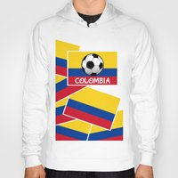 colombia Hoodies featuring Colombia Football by mailboxdisco