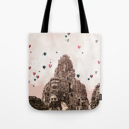 Angkor Wat and balloons Tote Bag