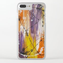 Summer Splatters Clear iPhone Case