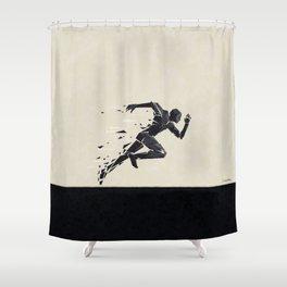 Run your race ... Shower Curtain