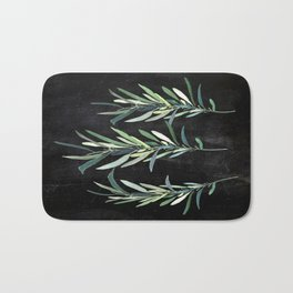 Eucalyptus Branches On Chalkboard Bath Mat