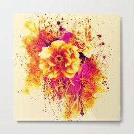 splash flowers Metal Print