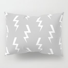 Bolts lightening bolt pattern grey and white minimal cute patterned gifts Pillow Sham