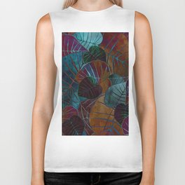 Abstract Leaves Biker Tank