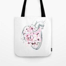 Blossom Burst Heart Tote Bag