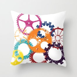 Industrial 2 Throw Pillow