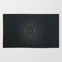 Space Maze Cyan Rug