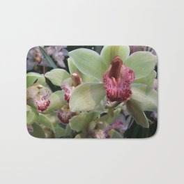 Pink and Green Orchid Bath Mat