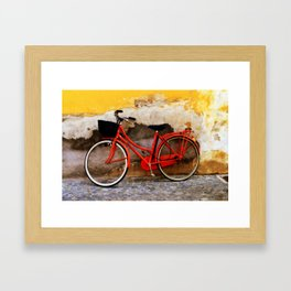 The Red Bicycle Framed Art Print