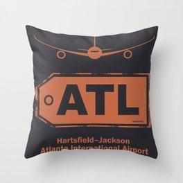 Hartsfield–Jackson Atlanta International Airport tag coffee Throw Pillow