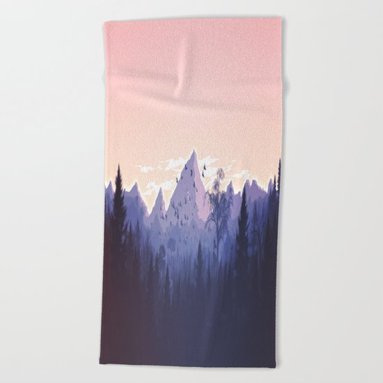 Lovely Nature Art Work Painted Beach Towel