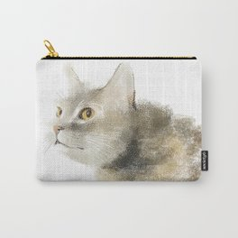A cat in hunting mode Carry-All Pouch