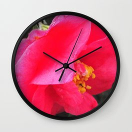 Pink Rain Drops Wall Clock