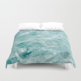 Clear blue water | Colorful ocean photography print | Turquoise sea Duvet Cover