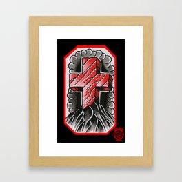 cross of ages Framed Art Print
