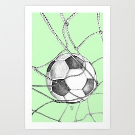 Goal in green Art Print