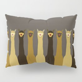 Triple LLAMAS ALPACAS CAMELS - Dark Pillow Sham