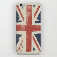 union jack iPhone & iPod Skins featuring Union Jack by David Hand