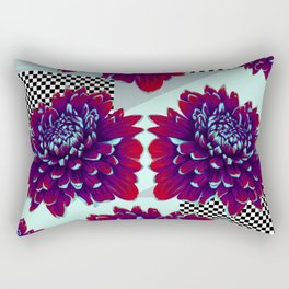 Purple Painted Flowers Rectangular Pillow