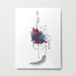 I Create Myself/ Bad Wolf Dream Catcher Metal Print