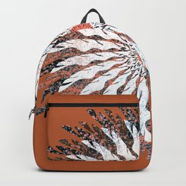 Vector Flower 113 Rust Graphic Art Print Backpack