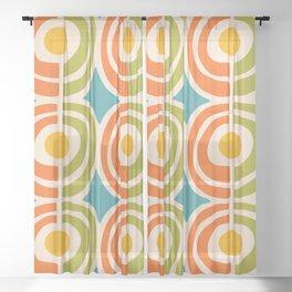Mid Century Modern Solar Flares Pattern 2 Sheer Curtain