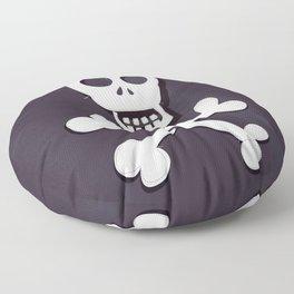 Pirate Skull and crossbones flag Floor Pillow