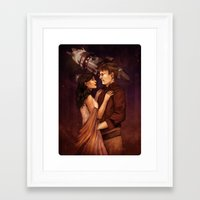 firefly Framed Art Prints featuring Firefly by Vaahlkult