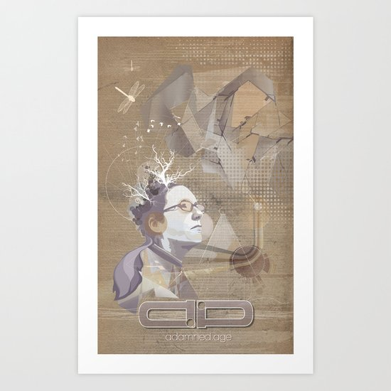 adamned.age artist poster  Art Print
