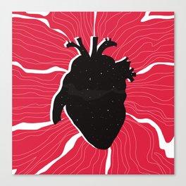 Heart full of stars Canvas Print