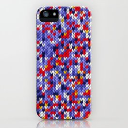Knitted multicolor pattern 2 iPhone Case