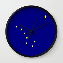 flag of alaska,america,usa,ice, north,Midnight Sun,Alaskan,Anchorage,Fairbanks,Juneau Wall Clock
