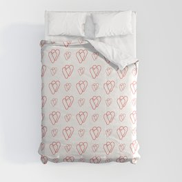 heart and love 22- red- Intertwined heart Comforters