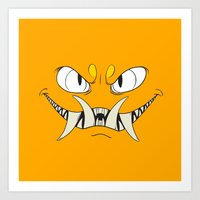 Yellow-Orange Monster Art Print