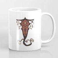 legend of korra Mugs featuring The Legend of  Korra: Vaatu by jindesign