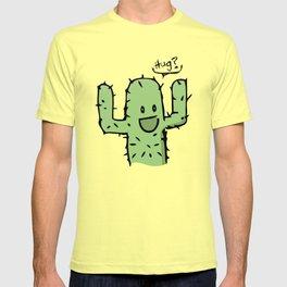 Hug? cactus free hug T-shirt