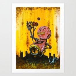 A pink robot for Akira Art Print