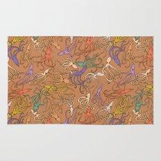 Squids of the inky ocean - retro colorway Rug
