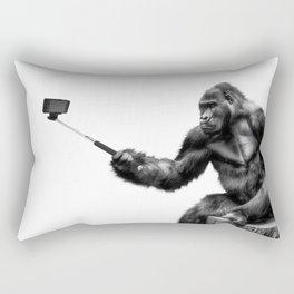 Gorilla Selfie Rectangular Pillow