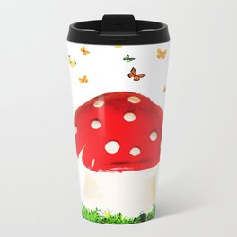 the magical toad stool Metal Travel Mug