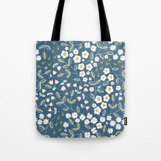 Ditsy Blue Tote Bag