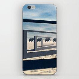 Surreal Elephant Desert Scene iPhone Skin