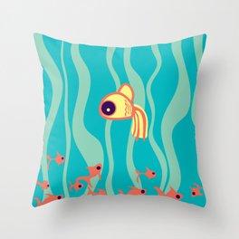Small decorative goldfish. Throw Pillow