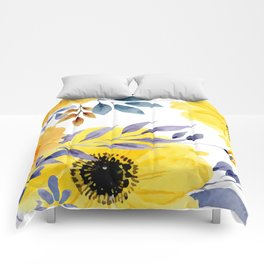 FLOWERS WATERCOLOR 10 Comforters