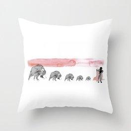 Bull fight  Throw Pillow