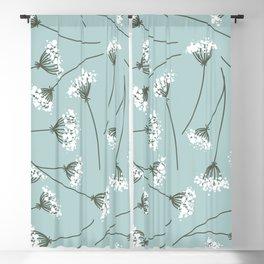 Queen Anne's Lace Floral Pattern Blackout Curtain