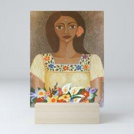 More than flowers she sells illusions Mini Art Print